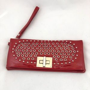 MMS Red Patent & Silver with Paisley Lining Purse